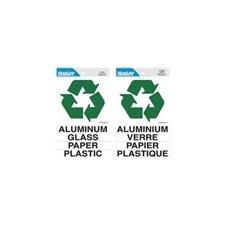 Autocollant signe de recyclage français