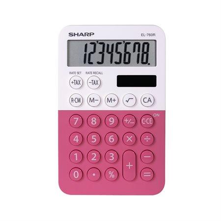 Calculatrice de poche framboise