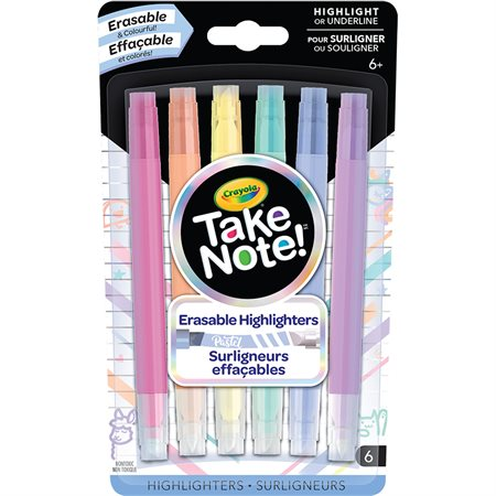 Erasable Pastel Highlighters