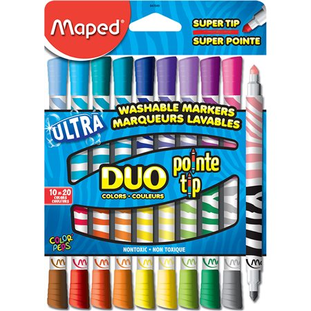 Marqueurs double couleurs
