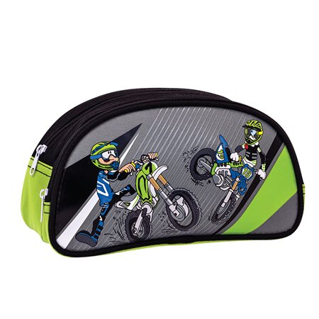 Motocross Half-Moon Pencil Case