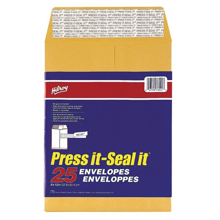 Enveloppe kraft Press-it Seal-it® 9 x 12 po (25)