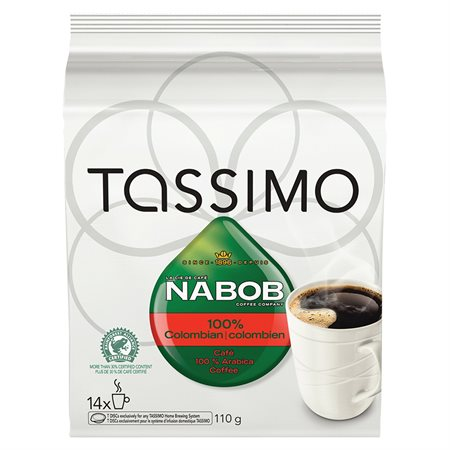 Dosettes de café Tassimo Paquet de 14 Nabob Colombien