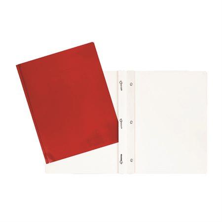 Couverture de présentation rouge