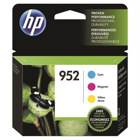 Pack of 3 HP 952 Cartrdiges (CMY)
