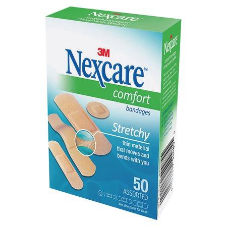 Pansements confortables Nexcare™ formats variés (50)