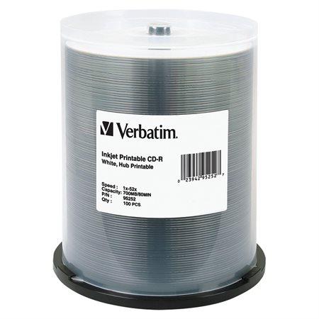 CD-R imprimable 52x paquet de 100