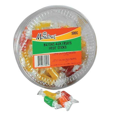 Bonbons Mondoux 500 g. Bâtons aux fruits