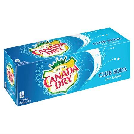 Boissons gazéifiées 355 ml. Canada Dry Club Soda