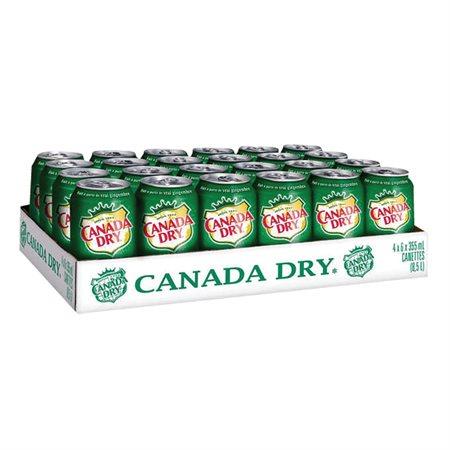 Boissons gazéifiées 355 ml. Canada Dry Soda Gingembre