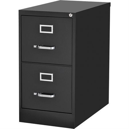 Commercial Grade Vertical File Letter size. 2 drawers. 15 x 22 x 28-1 / 8 po. H. black
