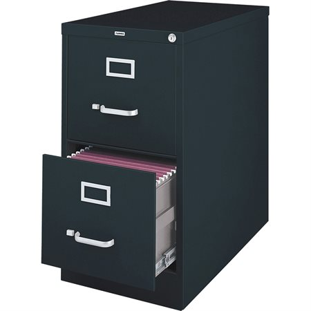 Commercial Grade Vertical File Legal size. 2 drawers. 18 x 25 x 28-1 / 8 in. H. black