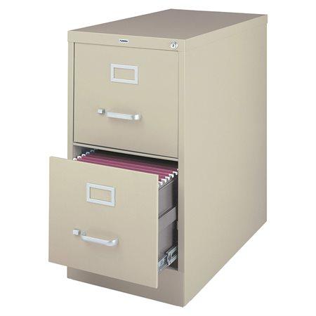 Classeur vertical de qualité commerciale Format légal. 2 tiroirs. 18 x 25 x 28-1 / 8 po. H. mastic