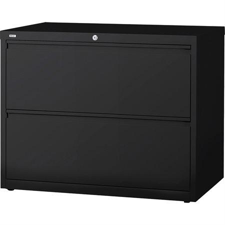 Classeur latéral 2 tiroirs. 42 x 19 x 28 po. H. 144 lbs. noir