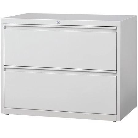 Classeur latéral 2 tiroirs. 36 x 19 x 28 po. H. 123 lbs. gris pâle