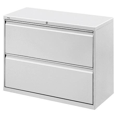 Classeur latéral 2 tiroirs. 42 x 19 x 28 po. H. 144 lbs. gris pâle