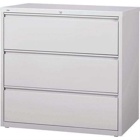 Classeur latéral 3 tiroirs. 42 x 19 x 40 po. H. 173 lbs. gris pâle