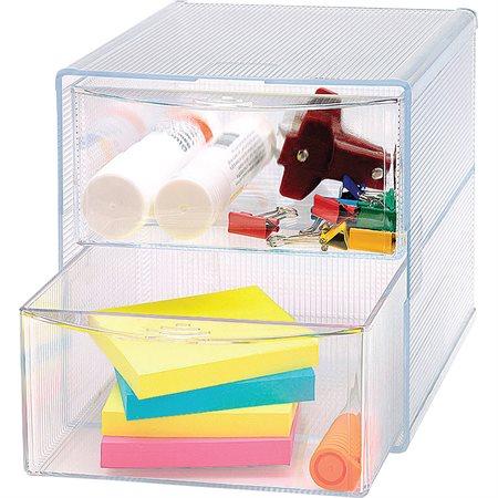 Cube de rangement 6 x 6 x 6 po 2 tiroirs