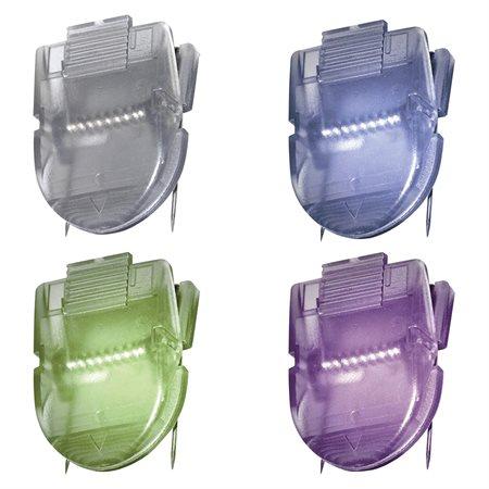 Pinces de couleurs pour cloison couleurs métalliques