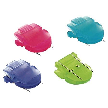 Pinces de couleurs pour cloison couleurs vives