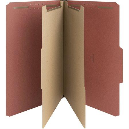 Chemise de classification en carton pressé Format légal 2 sérarateurs - rouge