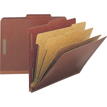 Chemise de classification en carton pressé Format légal 3 séparateurs - rouge