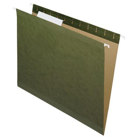 Dossier suspendus recyclés renforcés format lettre, onglet 1 / 3