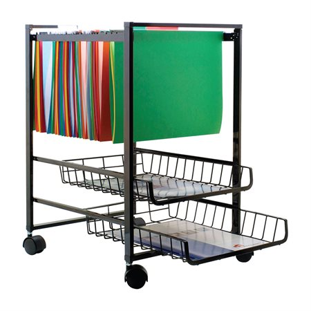 Mobile File Cart With Baskets