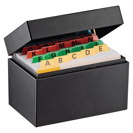 Boîte de rangement pour fiches 3 x 5 po. capacité de 400
