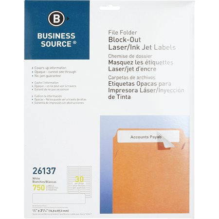 Block-out File Folder Labels