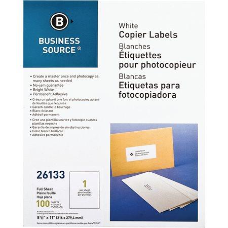 Étiquettes pour copieurs
