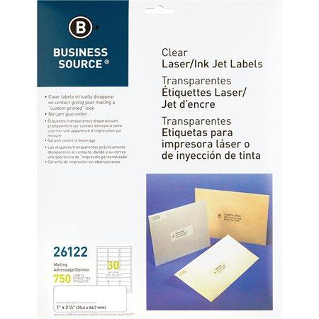 Étiquettes d'adresse transparentes