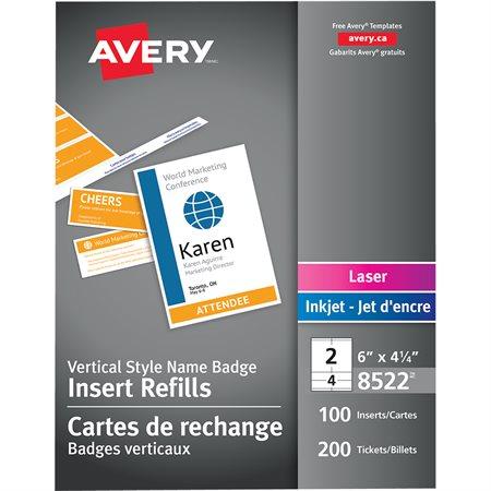 Identification badge insert refills