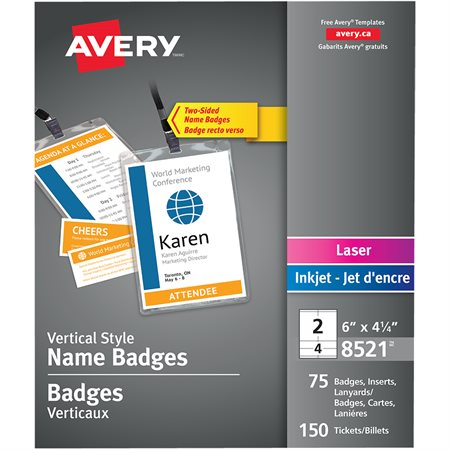 Vertical Style Name Badges with Lanyard