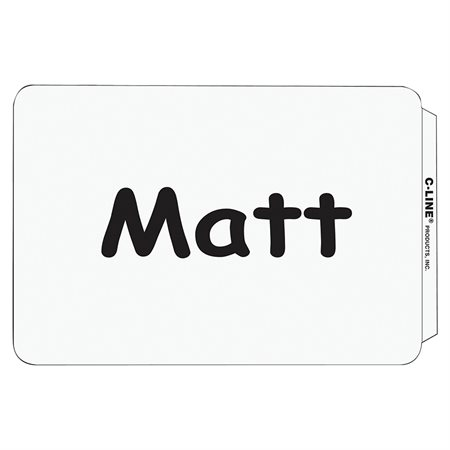 Insignes d'identification adhésive 2-1 / 4 x 3-1 / 2 Blanc