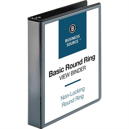 Reliure de présentation à anneaux ronds 1-1 / 2 po noir