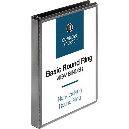 Reliure de présentation à anneaux ronds 1 po noir