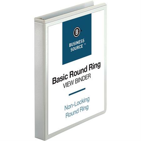 Reliure de présentation à anneaux ronds 1 po blanc