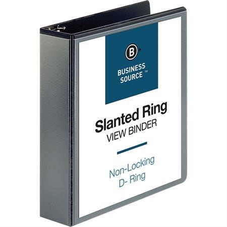 Reliure de présentation à anneaux inclinés 2 po noir