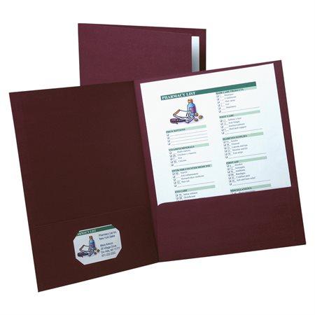 Couverture de présentation à double pochette Paquet de 5 bourgogne
