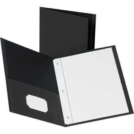 Couverture de présentation avec attaches noir