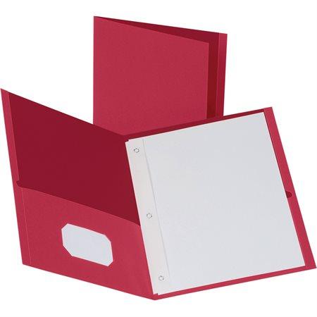 Couverture de présentation avec attaches rouge