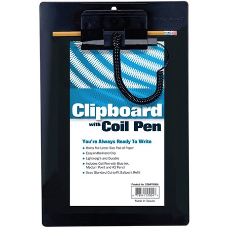 Wedgy Clipboard with Coil Pen