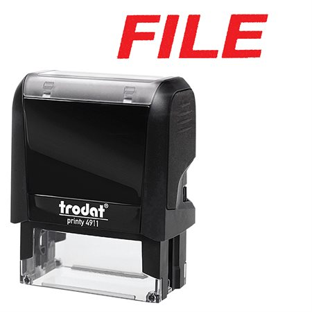 Timbre grand format auto-encreur Original Printy 4.0 4911 FILE (rouge)