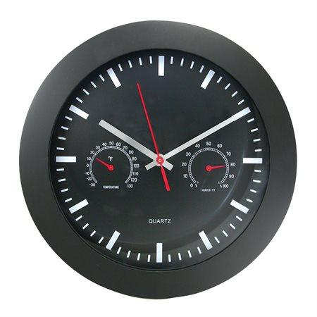 Horloge murale avec indicateur de température et d'humidité