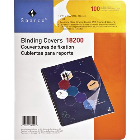Standard Clear Plain Presentation Covers
