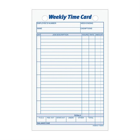 Weekly Time Cards