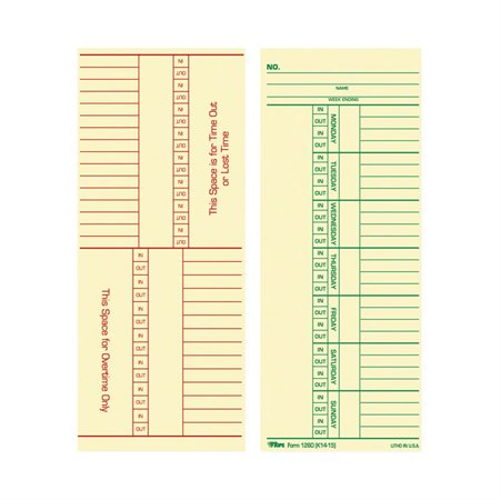 Overtime Time Cards