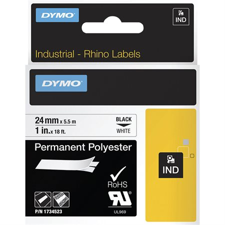 Ruban en polyester permanent Dymo Rhino