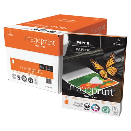 Papier à usages multiples ImagePrint® 20 lb. Paquet de 500. lettre, 3 trous